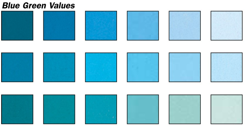 blue green values pastel set 18 colors