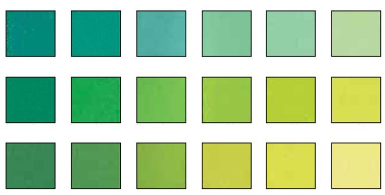 Green 2 Values Pastel Set 18 Colors