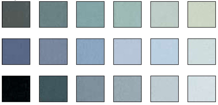 Grey Colors 1 values pastel set - 18 colors