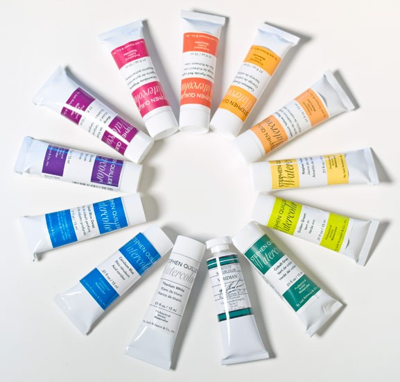 13-Color Expanded Set of SQ Watercolors