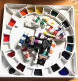 "Prearranged  20 color ""Workshop Palette"" (plus tubes)"